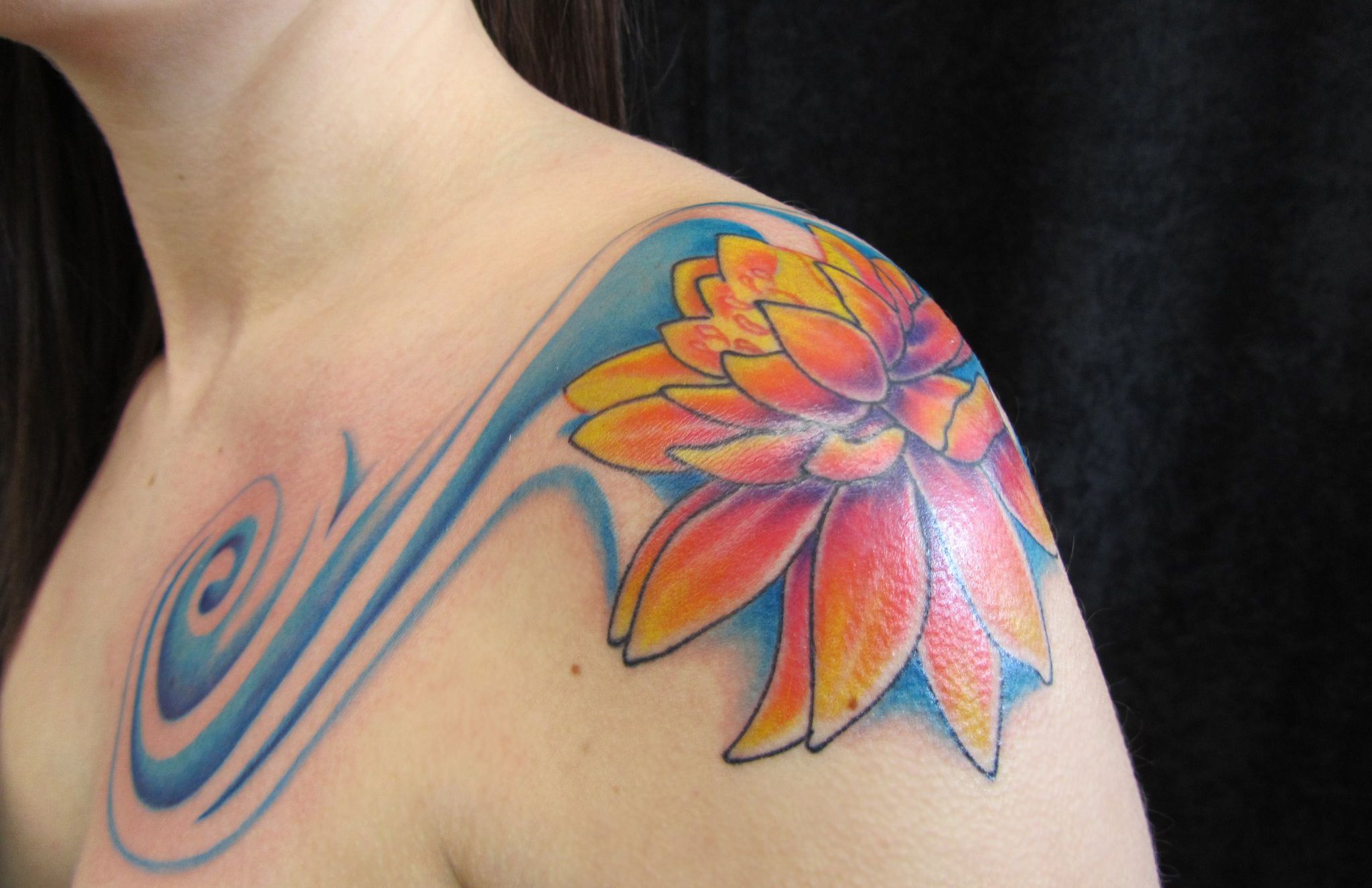 Water lilies tattoos images for tatouage for Eau claire tattoo